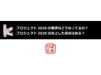 プロジェクト2020の悪評